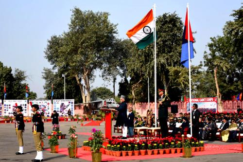 The Vice President, Shri M. Hamid Ansari addressing at the inauguration of the NCC Republic Day Camp 2017, in New Delhi on January 06, 2017.