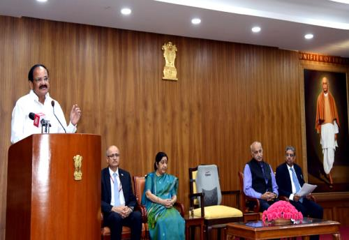 The Vice President, Shri M. Venkaiah Naidu addressing the 125 Indian Ambassadors and High Commissioners, in New Delhi on July 01, 2018