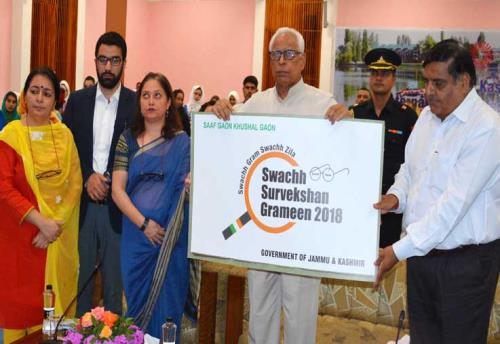 "Governor launches ""Swachh Survekshan Grameen-2018"""