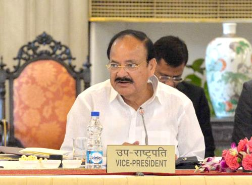 The Vice President, Shri M. Venkaiah Naidu addressing the Governors and Lt. Governors in the 49th Governors' Conference, at Rashtrapati Bhavan, in New Delhi on June 05, 2018.