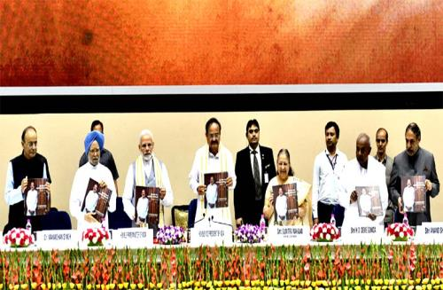 "PM Narendra Modi releases Book titled "" Moving On, Moving Forward : A Year in Office "" on Vice President M. Venkaiah Naidus one year in office on Sunday 2nd september 2018"