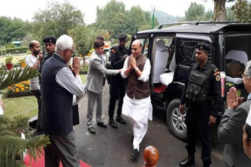 Home minister Rajnath Singh, National security advisor, Home Sec, arrive for 2-day visit to JK on 4th July 2018
