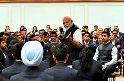 PM Modi interacts with medal winners of the recently concluded 18th Asian Games 2018 on wednesday 5 sep2018
