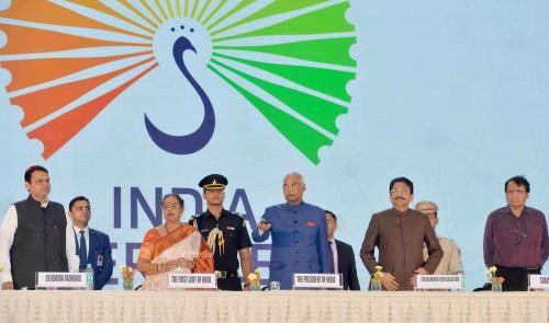The President, Shri Ram Nath Kovind launching the 12 Champion Sectors in Services, at Mumbai, in Maharashtra on May 15, 2018.