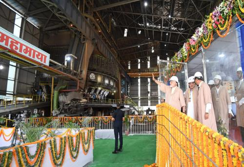 The Prime Minister, Shri Narendra Modi dedicates the Modernised and Expanded Bhilai Steel Plant to the Nation, in Chhattisgarh on June 14, 2018