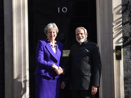 PM Modi meets Prime Minister Theresa May in Lonon on 18 April 2018