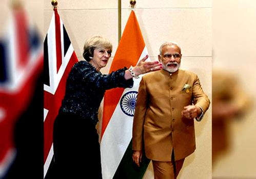 During the bilateral engagements Indian Prime Minister Narendra Modi with his British counterpart Theresa May on tuesday 17th of april 2018