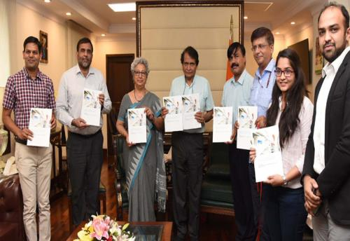 The Union Minister for Commerce & Industry and Civil Aviation, Shri Suresh Prabhakar Prabhu releasing the report on market study for enhancing Indian exports of pharmaceutical products to China, in New Delhi on June 15, 2018.