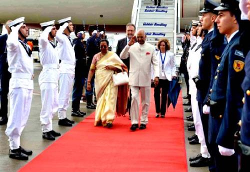 President of India sh.Ram Nath Kovind arrived in Athens yesterday evening on the first leg of his three nation tour to Greece, Suriname and Cuba.