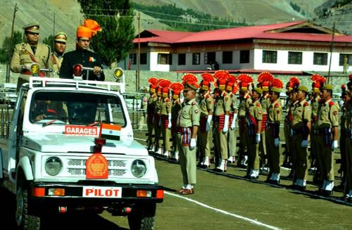 Deputy Commissioner Vikas Kundal unfurled the national flag and took salute at an impressive march past by several contingents at Kargil