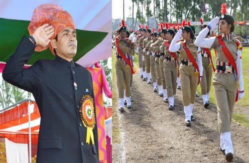 District Development Commissioner Udhampur Ravinder Kumar hoisted the National Flag and took salute at an impressive march past in the premises of PG College Boys