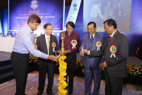 Union Minister for Commerce & Industry and Civil Aviation. Shri Suresh Prabhu at CHEMEXCIL Export Awards function, in Mumbai, on April 21, 2018