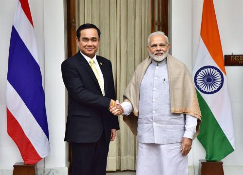 The Prime Minister, Shri Narendra Modi meeting the Prime Minister of the Kingdom of Thailand, Mr. Prayut Chan-o-cha, at Hyderabad House, in New Delhi.