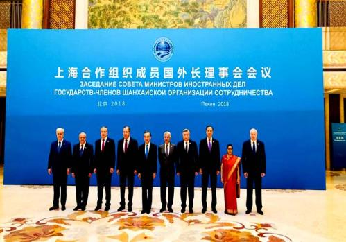 External Affairs Minister Sushma Swaraj in her address to the Shanghai Cooperation Organisation (SCO) Council of Foreign Ministers raised the issue of protectionism  On tuesday 24 April 2018