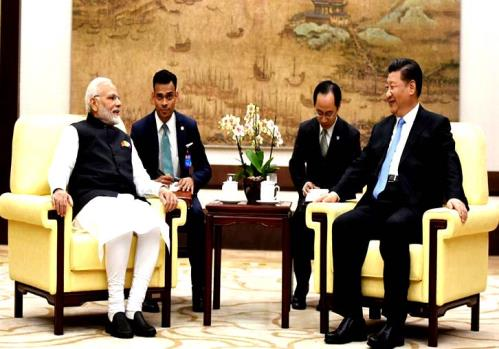 The Prime Minister, Shri Narendra Modi meeting the President of the People's Republic of China, Mr. Xi Jinping, in Wuhan, China.