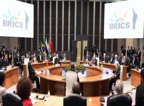 The Prime Minister, Shri Narendra Modi at the BRICS Leaders' Restricted Session, at the Sandton International Convention Centre, in Johannesburg, South Africa on July 26, 2018