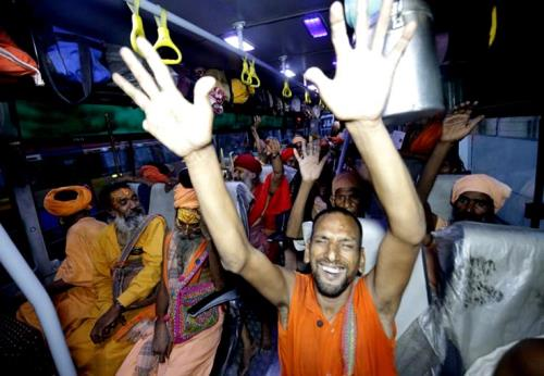 Amid chants of Bam-Bam Bhole, the first batch of pilgrims for the annual 60-day pilgrimage of Amarnath Yatra starts on a positive note left under heavy security cover.