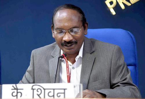 The Indian Space Research Organisation (ISRO) Chairman, Dr. K. Sivan addressing a press conference on issues related to Department of Space, in New Delhi on August 28, 2018.